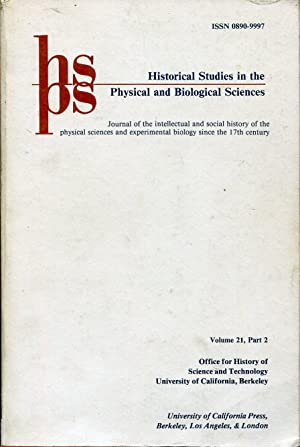Historical Studies in the Physical and Biological: BROWN Laurie M.,