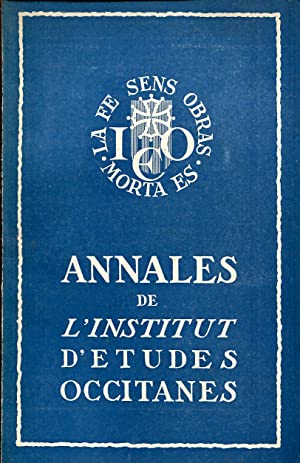 Annales de l'Institut d'Etudes Occitanes, Tome 2,: FAUCHER Daniel, JOURDA