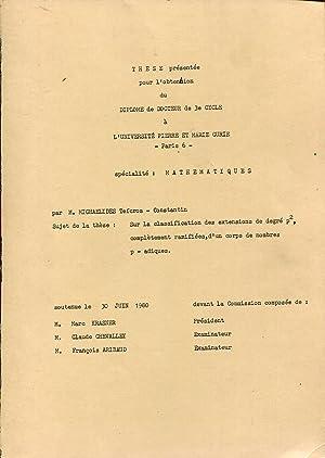 Sur la classification des extensions de degré: MICHAELIDES Tefcros-Constantin