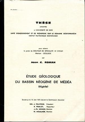 Etude géologique du bassin néogène de Médéa (Algérie): ...