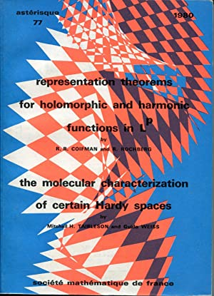 Representation theorems for holomorphic and harmonic functions: COIFMAN R. R.