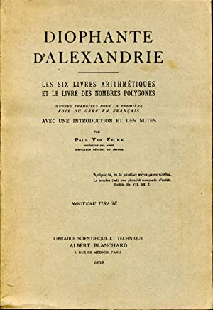 Les six livres arithmétiques et le livre: Diophante d'Alexandrie, oeuvres