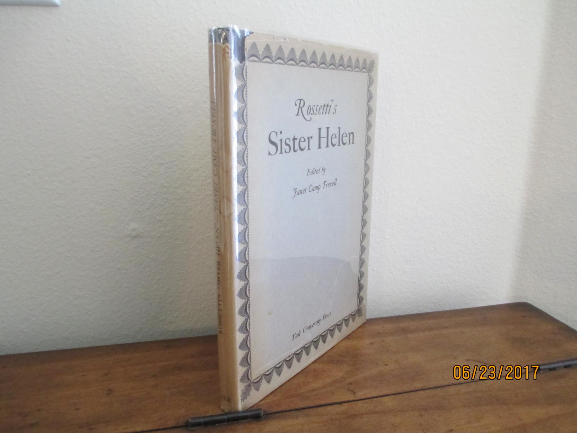 Rossettis_Sister_Helen_Troxell_Janet_Camp_Editor_Très_bon_Couverture_rigide