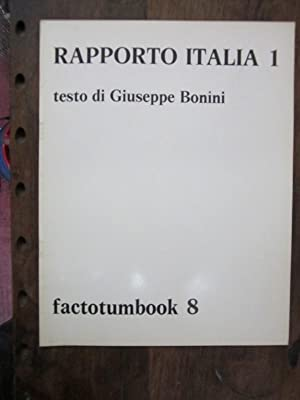 Rapporto Italia 1 (Factotumbook 8): Bonini, Giuseppe