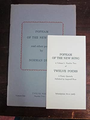 Popham of the New Song and Other Poems (Twelve Poems, Volume 1, Number 2): Dubie, Norman