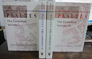 Plautus: The Comedies (4 volumes - complete): Slavitt, David and Palmer Bovie (eds.)