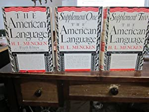 The American Language (3 volumes): Mencken, H.L.
