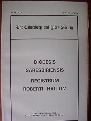 The Register of Robert Hallum, Bishop of: Horn, Joyce M.