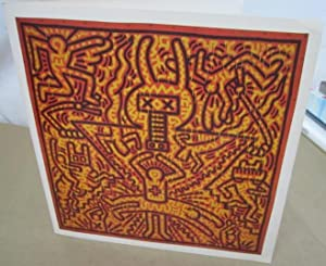 Keith Haring: Paintings, Sculptures, Drawings, June 20-July 31, 1997 [Promotional Card]