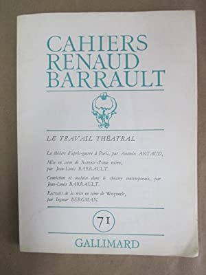Cahiers Renaud-Barrault, No. 71: Benmussa, Simone (ed.)