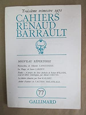 Cahiers Renaud-Barrault, No. 77: Benmussa, Simone (ed.)