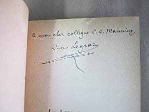 La Litterature en Russie [Signed & Inscribed]: Legras, Jules