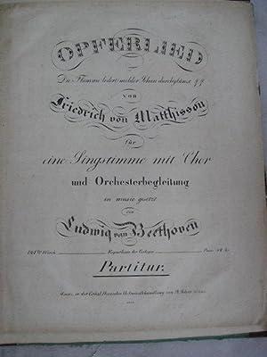 Opferlied.: Beethoven, Ludwig von