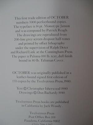 October: Isherwood, Christopher & Don Bachardy