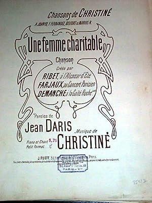 Partition musicale UNE FEMME CHARITABLE. Paroles de Jean DARIS. Musique de CHRISTINE.: Partition ...