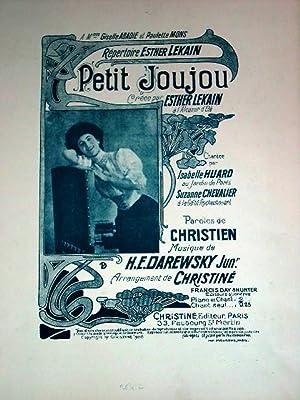 Partition Musicale - PETIT JOUJOU - Chanson créée par Esther LEKAIN à l'...
