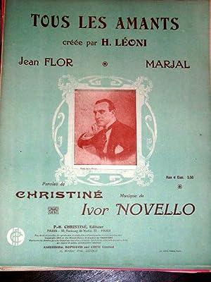 Partition musicale - TOUS LES AMANTS -: Partition Musicale Ancienne
