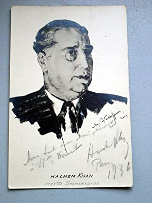 Carte Postale Ancienne photographique dédicacée représentant Hachem: Carte Postale