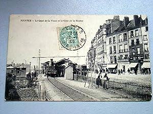NANTES - Le Quai de la Fosse et la gare de la Bourse.: Carte Postale Ancienne - 44 - ...