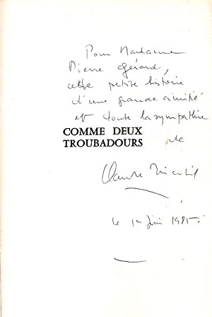Comme Deux TroubadoursHistoire De L'amitié FlaubertSand: Tricotel Claude