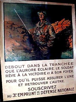 Affiche lithographie en couleurs signée Lieut. Jean DROIT. Debout dans: JEAN DROIT AFFICHE