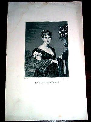 Gravure XIX ème en noir dessinée par David et gravée par Paquien, repré...