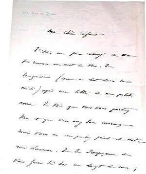 Lettre autographe signée de Francisque Sarcey le destinataire n'est pas cité ...