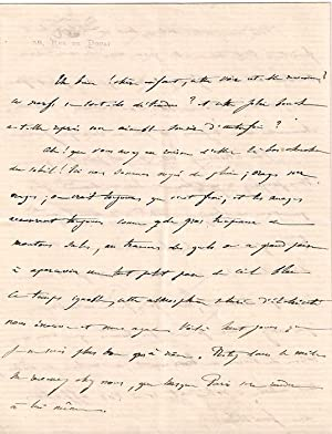 Lettre autographesignée de Francisque Sarcey le destinataire n'est: Lettre Autographe