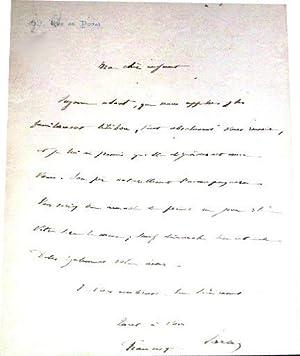 Lettre autographe signée de Francisque Sarcey le destinataire n'est pas: Lettre ...
