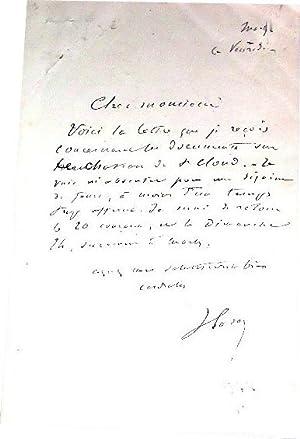 Lettre autographe signée de Peignot & Victorien Sardouau sujet de: Lettre Autographe