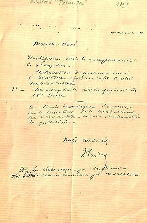 Lettre autographe signée de Victorien Sardou -Il s'adresse à un certain henri Au...