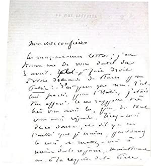 Lettre autographe signée de Victorien Sardou -Cher confrère, En rangeant mes lettres ...