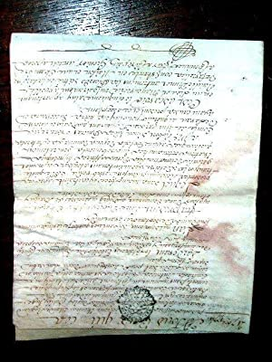 Beau Parchemin acte de ventesigné , datant de 1774: PARCHEMIN MANUSCRIT