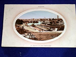 ROANNE - Le Bassin et les Chantiers.: Carte Postale Ancienne - 42 - LOIRE