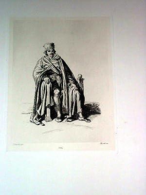 Très belle eau-forte représentant un Juge d'après Louis DAVID grav&eacute...
