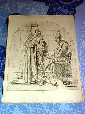 Très belle héliogravure par M. Charreyre représentant NAPOLEON 1er et PIE VII ...
