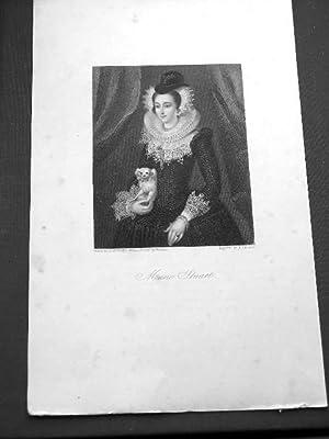 Gravure XIX ème en noir dessinée par J.W. Wright et gravée par: GRAVURE XIXème