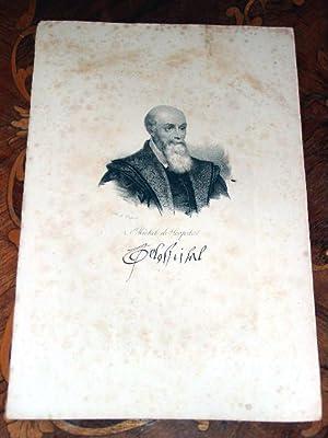 Gravure XIX ème en noir dessinée par Delpech représentant MICHEL DE L'...