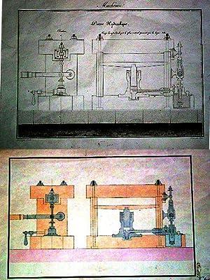 Dessin original19 ème sur papier vergéaquarellé représentant une: Dessin original