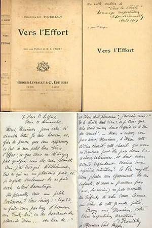 VERS L'EFFORTStances et Sonnets. Avec une préface de Émile Faguet.: ROMILLY (Edouard)...