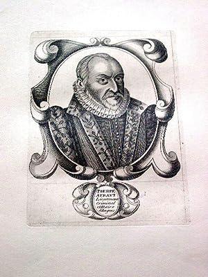 Gravure sur cuivre sur papier vergé représentant Pierre AYRAULT,: GRAVURE Pierre