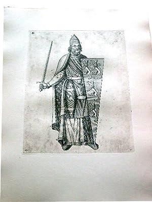 Gravure sur cuivre sur papier vergé représentant Geoffroy V dit Plantagenêt le ...