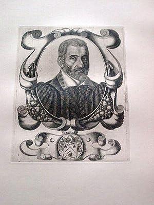 Gravure sur cuivre sur papier vergé représentant René GAULTIER, seigneur de ...