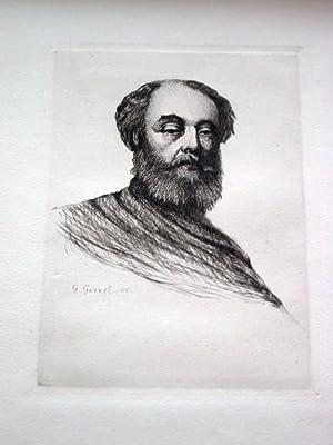 Gravure sur cuivreen tailledouce sur papier d'Arches signée au: GRAVURE Célestin