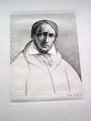 Gravure sur cuivreen tailledouce sur papier d'Arches signée au: GRAVURE JeanLouis