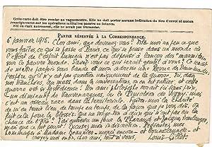Carte de Correspondance des Armées de la république signée émanant du ...