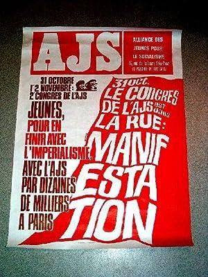 Affiche de années 70 de l'Alliance des jeunes pour le socialisme 31: AFFICHE MILITANTE
