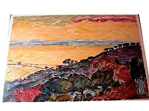 PAYSAGEPeinture en couleurs de BATTISTA lithographiée en couleurs: Lithographie Claude