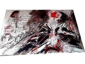 """Lithographie originale sur velin d'Arche """"LA ROSE, LA BOUTEILLE & LA: Lithographie de"""