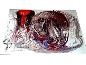 """Lithographie originale sur velin d'Arche """"LE VIN"""" signée au crayon Pierre ..."""